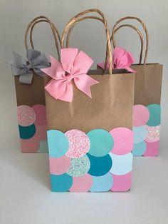 Printable Mermaid Party Favor Bags Mermaid Birthday Party Ideas