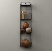 Industrial Wire Storage - 3 Bin Wall | Novelty Storage | Restoration Hardware Baby & Child