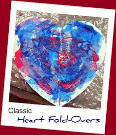 Teaching 2 and 3 Year Olds: Fold-Over Hearts with the 2 Year Olds