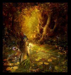 Entrance into the Enchanted forest. Fantasy Digital Art by Lilla Marton | Cuded