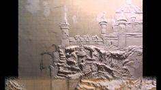 Барельеф этапы создания .рельефное панно.3D панно