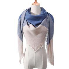 Designer 2018 new winter scarf for women shawls plaid ladies cashmere scarves pashmina echarpe neck warm Triangle bandana Tartan, Plaid Fashion, Fashion Scarves, Style Fashion, Cashmere Shawl, Triangle Scarf, Silk Shawl, Wrap Sweater, Scarf Styles