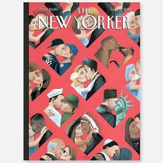 Pinks and reds – The New Yorker (@newyorkermag) sur Instagram : « A #ValentinesDay cover by Mark Ulriksen, from 2000. »