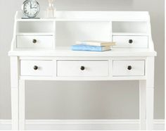 Westwing white desk - perfect for hiding little things away and keeping organized