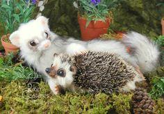 Forest Friendship - Heidi Riker Poseable Creatures by RikerCreatures.deviantart.com on @DeviantArt