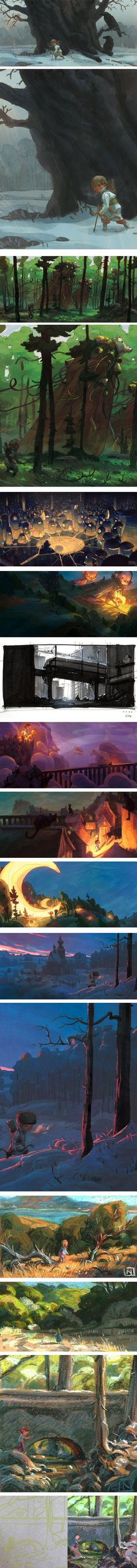 Noah Klocek, art director at PIXAR......., concept artist, children's book illustrator, digital and pastel.......