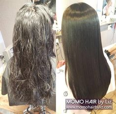 Now anyone can have this gorgeous straight hair. Just contact us for a free consultation~