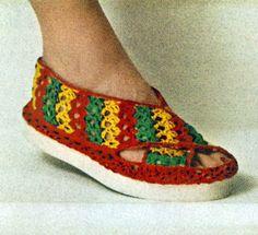 Beach Sandal Free Pattern ༺✿ƬⱤღ✿༻
