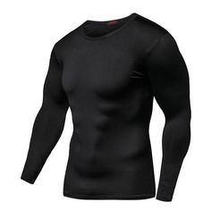 New Arrival Quick Dry Compression Shirt Long Sleeves Tshirt Plus Size Fitness Clothing Solid