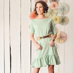 Adeline Dress - clothing - women- 100% organic cotton sea green dress (on sale too)