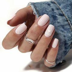 unghie quadrate con disegni geometrici smalto rosa pastello Square Nail Designs, Short Nail Designs, Simple Nail Designs, Nail Art Designs, Nails Design, Design Design, Design Ideas, Minimalist Nails, Basic Nails