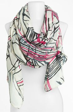 Raj Imports 'Painted Lines' Scarf available at #Nordstrom