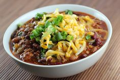Slow Cooker Chili Recipe -- Chili is a Crock-Pot® Slow Cooker classic, and this recipe does it justice. #SlowCooker #Chili