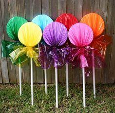 Holiday Candyland Birthday Wonka Party Indoor Outdoor Lollipop Decorations | eBay