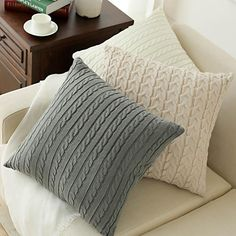 Knitted Decorative Pillowcase Sofa Cushion Bedroom Pillow Case Cover