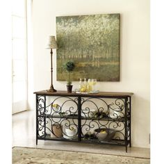I absolutely LOVE this console table! I plan on placing it in our entry way in our new home! Can't wait!