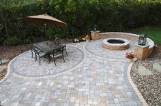 Outdoor fire pit and patio area for get togethers.