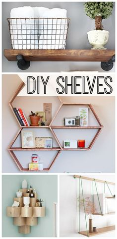 10 stylish DIY shelves project that you can make yourself.  Great for your bedroom, kitchen, bathroom, or office!