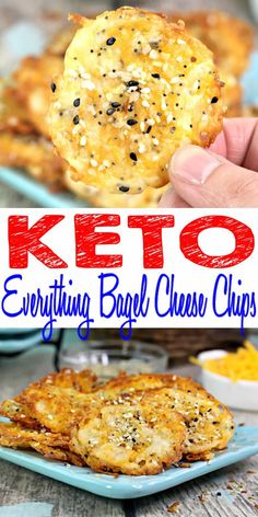 Get ready to bake up the BEST keto chips! Yummy low carb everything bagel cheese chips recipe. If you are looking for a tasty keto snack or appetizer then try these AMAZING keto cheese chips EASIEST keto chip recipe everyone will love. {Easy - Homemade}! Fire up your ovens for keto cheese treats. Crispy, crunchy chips that are tasty & delicious. Healthy, gluten free, sugar free low carb everything bagel chips.#lowcarb #ketogenicdiet - dip in your f