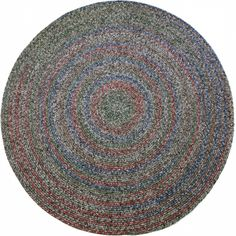 Awesome Rhody Rug SO85R072X072 Sophia 6 Ft. Multicolor Indoor Outdoor Round  Braided Rug Graphite
