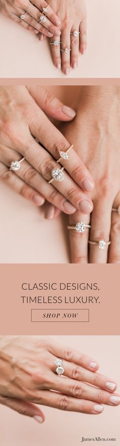 [ad] James Allen has an engagement ring for every style. Fantasy Wedding, Dream Wedding, Wedding Bells, Wedding Rings, Fashion Jewelry, Women Jewelry, Wedding Inspiration, Wedding Ideas, James Allen