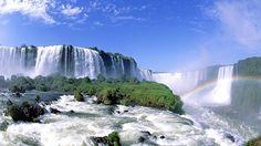 Sør Amerika - Regnbue over fantastiske Iguassu Falls