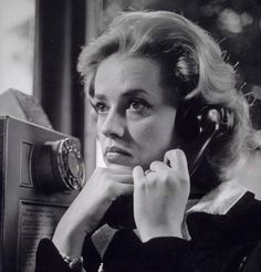 Jeanne Moreau, in Louis Malle's masterful New Wave film noir, Elevator to the Gallows her anguished footsteps syncopating Miles Davis's haunting score as she walks alone through the streets of Paris. Jeanne Moreau, Michelangelo Antonioni, Tyler Durden, Isabelle Adjani, Catherine Deneuve, Sophia Loren, Jules And Jim, Emmanuelle Béart, Black And White