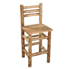 Rush Creek 37-0003 Solid Pine Pub Chair | ATG Stores