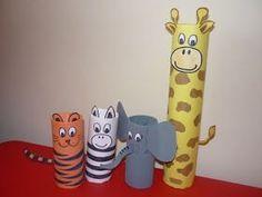 Diese süßen Tiere aus Klorollen eignen sich perfekt für unsere nächste Dschungel-Kindergeburtstagsparty. Tolle Idee. Danke dafür Dein balloonas.com #kindergeburtstag #balloonas #deko #basteln #diy # safari # dschungel #tiere #party