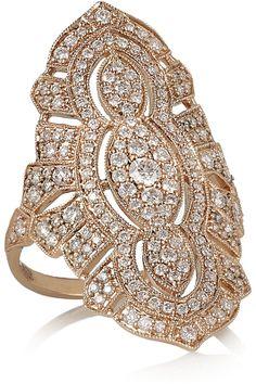 Кольцо - STONE - Tess 18-karat rose gold diamond ring