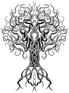 Yggdrasil tree of life, this is so amazing I'm gonna pin it in several boards!