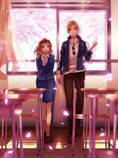 Miou and Haruki Anime Couples Manga, Cute Anime Couples, Manga Anime, Anime Art, Animes To Watch, Animes On, Koi, Tokyo Winter, Zutto Mae Kara