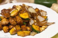 Receta de pollo salteado con verduras y anacardos