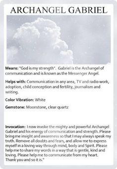 archangel gabriel invocation