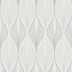 Super Fresco Optimum White / Duck Egg Wallpaper : Optimum is an art deco inspired geometric with subtle glitter and mica highlights. Duck Egg Blue Wallpaper, Brown Wallpaper, Striped Wallpaper, Peel And Stick Wallpaper, Grey And White Wallpaper, Wallpaper Ideas, Hd Wallpaper, Geometric Wave Wallpaper, Graphic Wallpaper