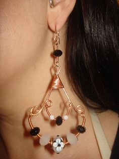 wire wrapped copper dangles. $45.00, via Etsy.