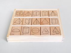 Polyhedra Rubber Stamps