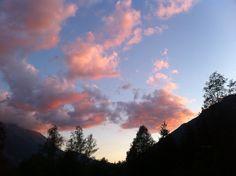 Sunset in Chamonix-mont blanc