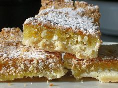 Gluten Free, Low GI Lemon Bars