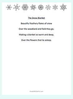 5 Fabulous Free Snow Poems for Kids