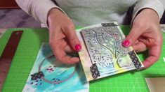 Come fare gli sfondi in cardmaking e scrapbooking Tutorial/ Background