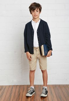 Boys school uniform cardigan (kids) school uniforms school u Preppy Outfits, Outfits For Teens, School Outfits Highschool, Summer School Outfits, Private School Uniforms, School Uniform Fashion, Kids Uniforms, Kind Mode, Kid Styles