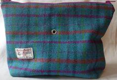 Harris Tweed Knitting Bag by TheFabulousMrG on Etsy, $59.50