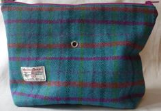 Harris Tweed Knitting Bag by TheFabulousMrG on Etsy, $59.50