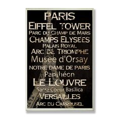 Stupell Industries CW-1201 Paris Decorative Wall Art - Decor Universe