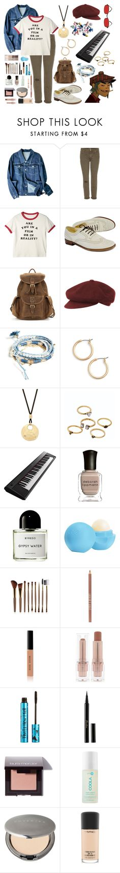 """""""2D"""" by tempermental-teen ❤ liked on Polyvore featuring Mother, Robert Clergerie, kangol, GUESS, Nordstrom, Lucky Brand, WithChic, Yamaha, Deborah Lippmann and Byredo"""
