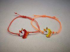 Unicorns Unicorn Bracelet Miyuki bracelet bracelet for image 1 Unicorn Jewelry, Beadwork Designs, Unicorn Kids, Beautiful Unicorn, Sliding Knot, Peyote Patterns, Birthday Gifts For Girls, Customized Gifts, Bridesmaid Gifts
