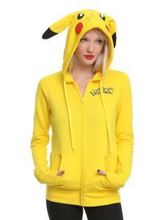 Hot Topic Hoodies for Girls   Pokemon I Am Pikachu Girls Hoodie   Hot Topic