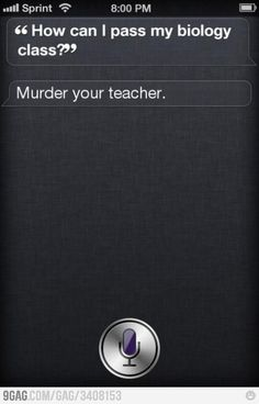 Part of me just died... I hope none of my students ask siri this question... I give extra credit all the time