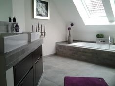 would love an ombr tiled feature wall in a bathroom